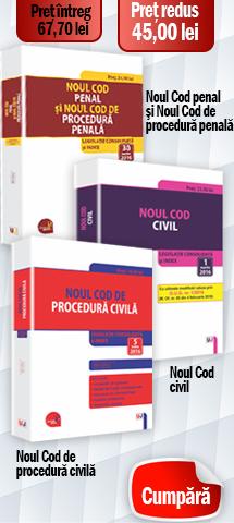 Pachet: Noul Cod penal si Noul Cod de procedura penala, Noul Cod de procedura civila, Noul Cod civil 2016