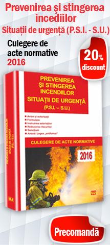 Prevenirea si stingerea incediilor. Situatii de urgența (P.S.I. – S.U.)