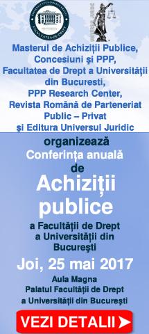 Conferinta anuala de achizitii publice