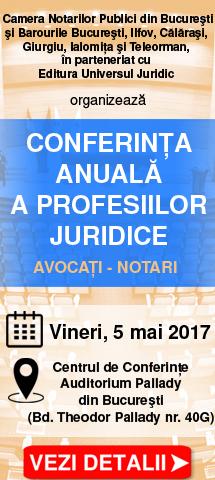 Conferinta anuala a profesiilor juridice