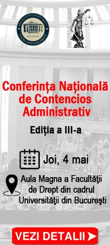 Conferinta Nationala de Contencios Administrativ