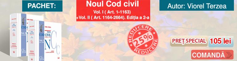 Noul Cod civil. Vol. I. ( Art. 1-1163) - Vol. II. ( Art. 1164-2664). Editia a 2-a