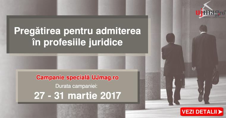 Pregatirea pentru admiterea in profesiile juridice