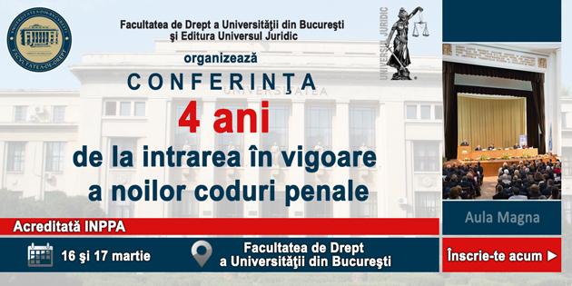 4 ani de la intrarea în vigoare a noilor coduri penale - Bucureşti