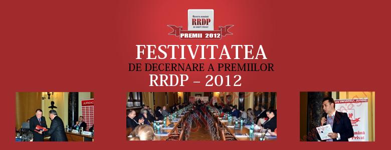 Festivitatea de decernare a Premiilor RRDP 2012