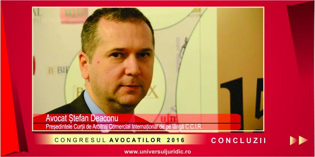 Ștefan Deaconu Congresul avocatilor 2016