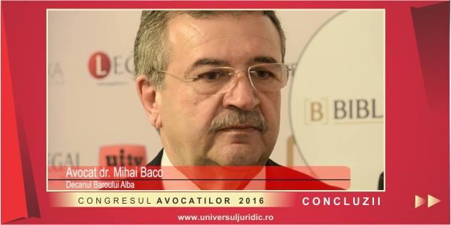 Mihai Baco Congresul avocatilor 2016